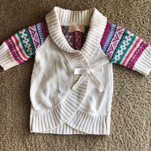 Adorable girls 3/4 sleeve wrap cardigan sweater 3T